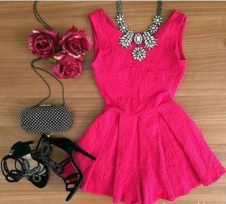 dress boho cute pink girly floral