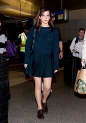 sweater,skirt,shoes,emma watson