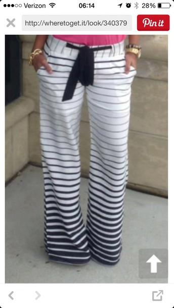 pants ombre stripes