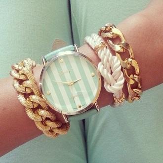 jewels watch bracelets white mint jewelry set bracelets blue watch stacked bracelets