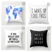 home accessory,pillow,bedroom pillows,sleep,i woke up like this,need more sleep,love,black and white,tumblr bedroom,bedroom,tumblr