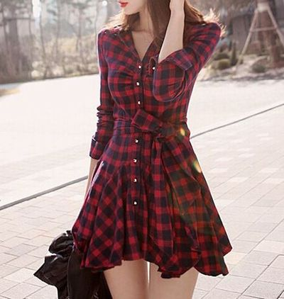 Red retro plaid dress · fashion struck · online store powered by storenvy