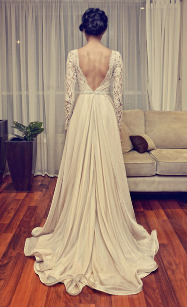 dress backless lace