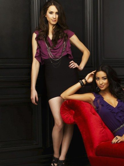 pretty little liars troian belisario purple dress
