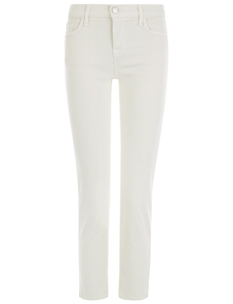 jeans skinny jeans cropped cream