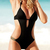 Black Elegant Hollow Halter Top Swimsuit : KissChic.com