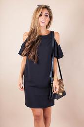 the darling detail - austin fashion blog,blogger,bag,sunglasses,jewels,blue dress,mini dress,off the shoulder,shoulder bag,cut out shoulder,animal print bag,animal print