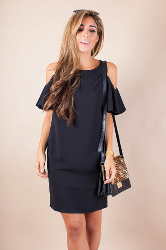 the darling detail - austin fashion blog blogger bag sunglasses jewels blue dress mini dress off the shoulder shoulder bag