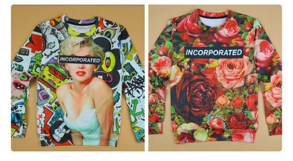 marilyn monroe sweater shirt floral