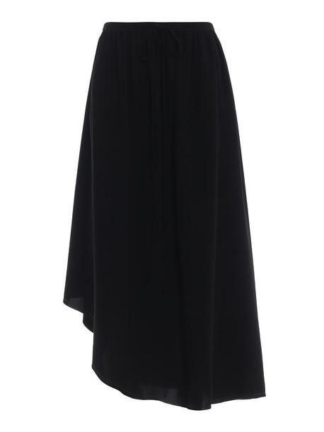 Loewe Asymmetric Midi Skirt in black