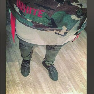jeans maniere de voir ribbed rib biker pants khaki