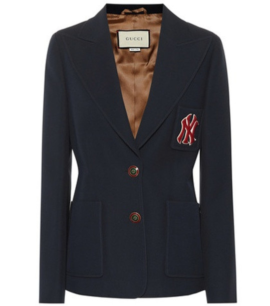Gucci NY Yankees wool and silk blazer in blue
