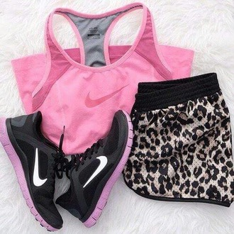 shorts leopard print fitness shorts tank top shoes sports shorts ladies gym shorts gym clothes pants tights skirt top nike running shoes nike shoes