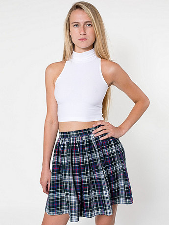 Plaid Full Woven Skirt | American Apparel