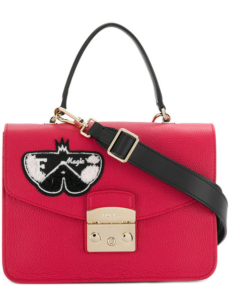 Furla women butterfly handbag leather red bag