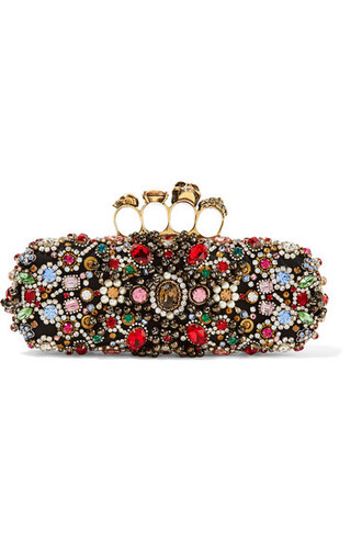 embellished clutch black satin bag