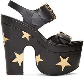 buckles sandals black stars shoes