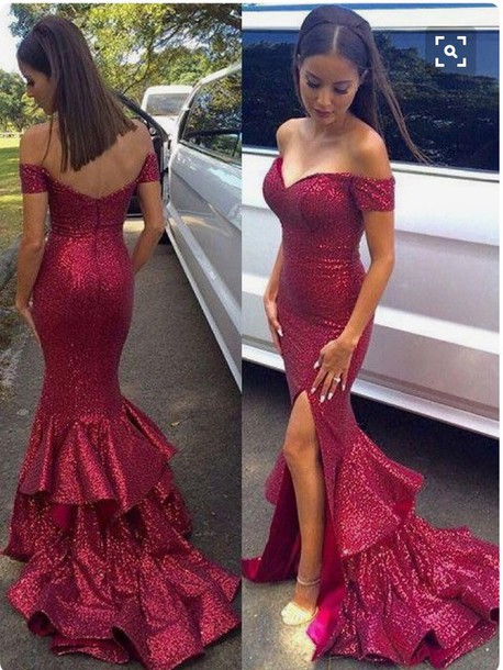 Dress: rojo, red dress, red, red prom dress, red carpet dress, red ...