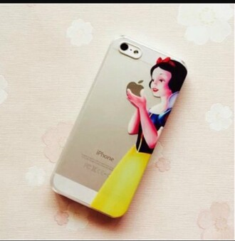 phone cover snow white apple