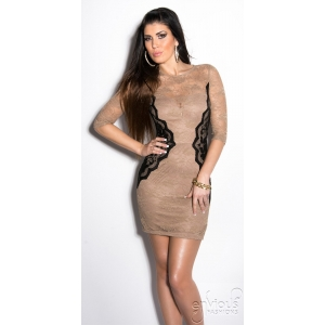 VIVA | Nude Lace Dress