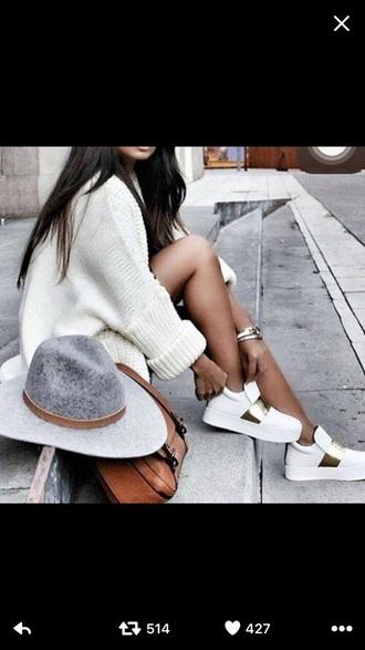 dress whte big sweaters grey