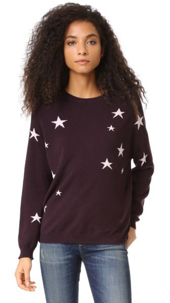 Chinti and Parker sweater pink oxblood