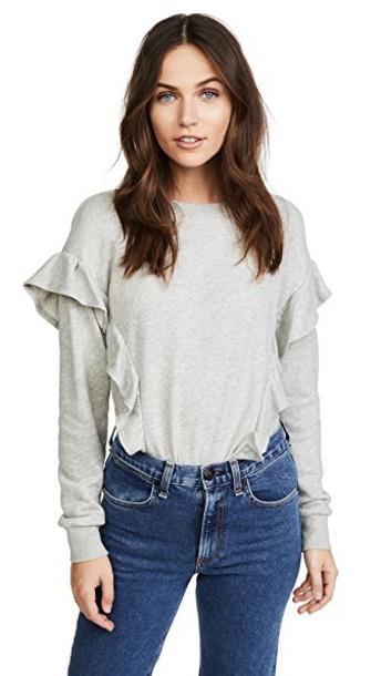 Joie sweatshirt grey heather grey sweater