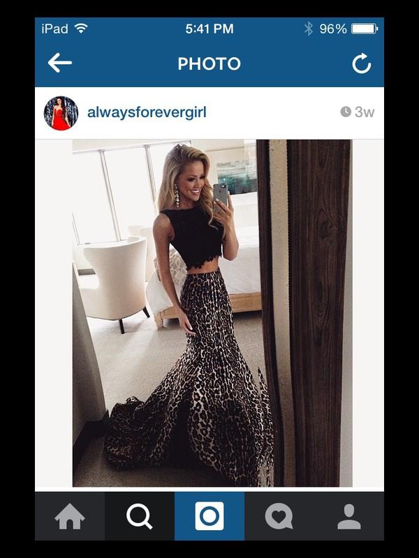 dress black sherri hill prom dress two piece dress set