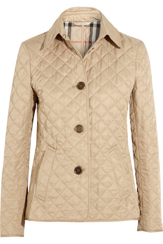 jacket shell quilted beige