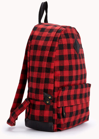 bag backpack plaid plaid backpack