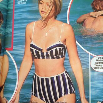 swimwear beach gigi hadid striped swimwear striped bikini