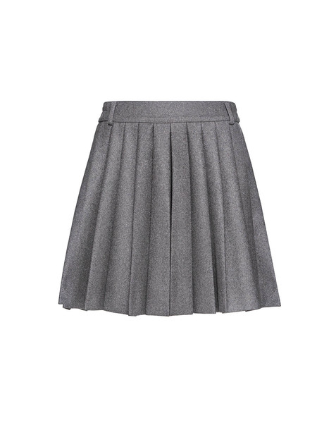 RED VALENTINO skorts mini pleated wool grey skirt