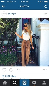 pants,beige,wide leg,summer,wide-leg pants,tan,high waisted,flowy,jeans,trouser,brown,nudes,palazzo pants,outfit,high waisted pants,loose,fancy,pinterest,trendy,floral,teenagers,coachella,vintage,hipster,tumblr,t-shirt,flowy brown pants,nude,classy,top,white,bow,pink,chic,summer outfits,Bow pants,camel,cute,tie front,satin,flare jeans