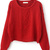 Red Long Sleeve Cable Knit Pullover Sweater - Sheinside.com