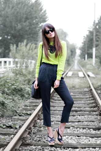 andy style scrapbook sweater neon