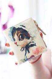 bag,wallet,cats,doodles,gift ideas,wallet cute,cute