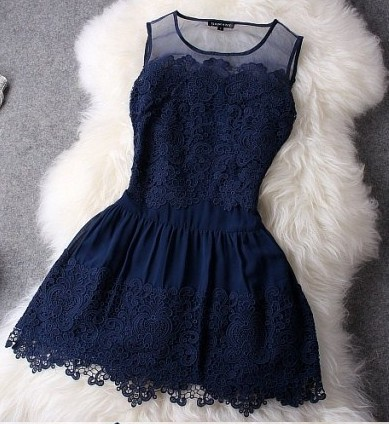 2014 New Fashion Novelty Lace Patchwork Dress Sleeveless Tank Slim Women's Fashion Dresses With Lace LQ4465-in Dresses from Apparel & Accessories on Aliexpress.com