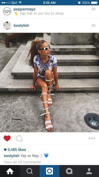 shoes white knee high gladiator sandals gladiators flat gladiator sandals white gladiators cute style fashion summer outfits dress