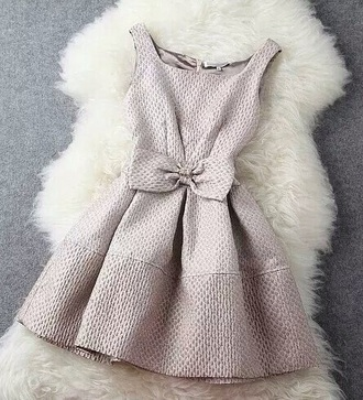 dress bow dress cream dress