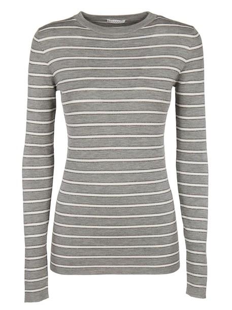 BRUNELLO CUCINELLI t-shirt shirt t-shirt long white grey top