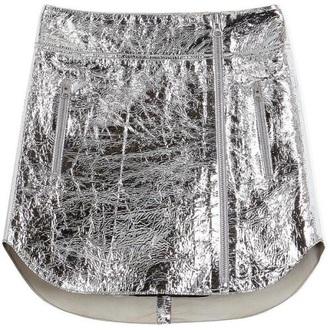 skirt mettalic metallic metallic skirt silver