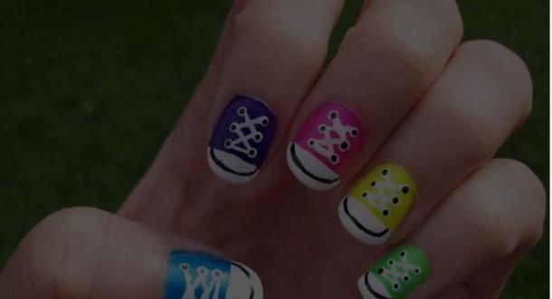 nail polish converse nails