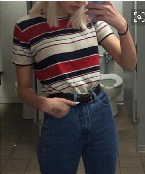 shirt striped t-shirt