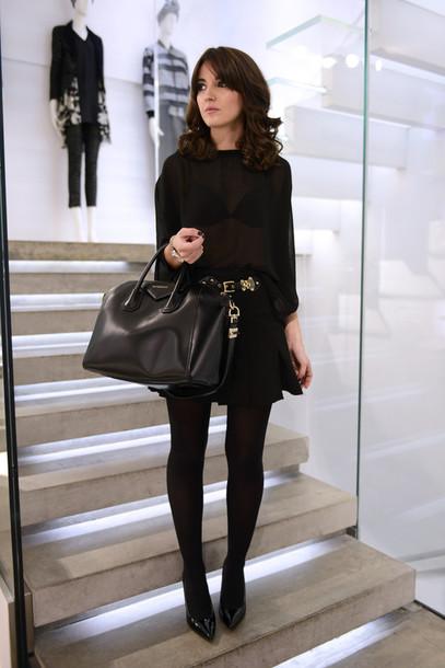 ea40b7ceee91b tights, tumblr, black tights, opaque tights, skirt, mini skirt ...