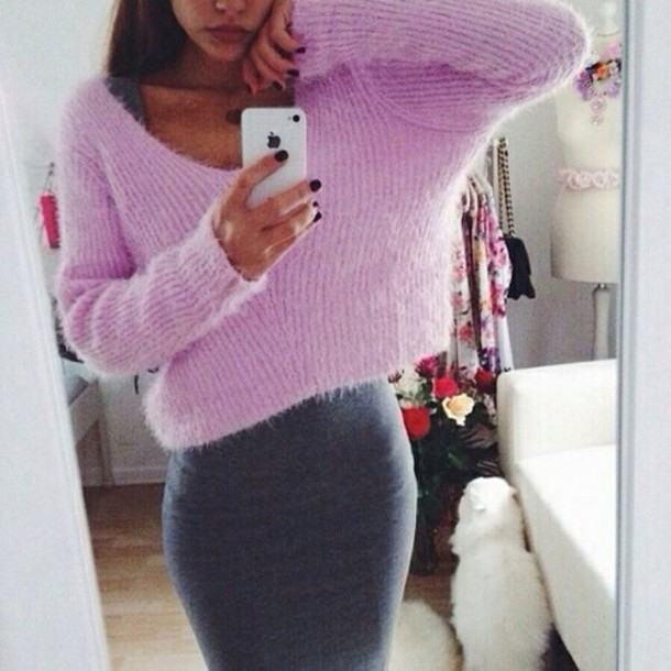 sweater lila lavender/lilac