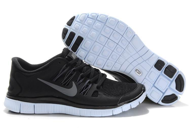Add Support, Nike Free 5.0 Mens Black Dark Grey White [QFUJ984-602]