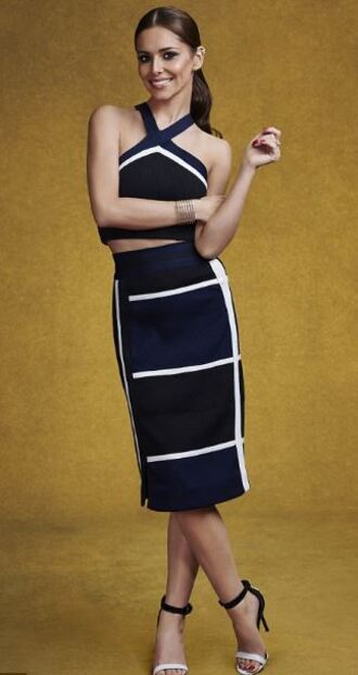 skirt cheryl cole sandals crop tops stripes