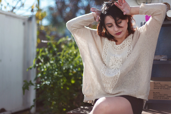 sweater lace lace sweater batwing