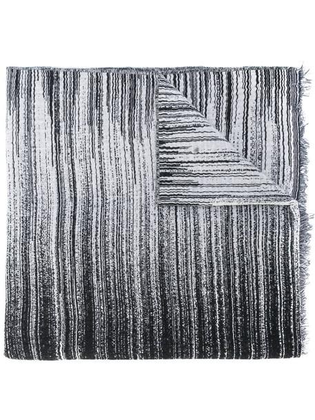 Oyuna women scarf striped scarf cotton black wool