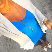 pinksole,blogger,cardigan,tank top,jeans,jewels,top,shirt